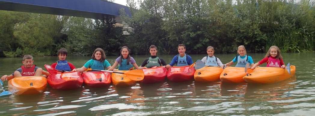 Curso kayak niños
