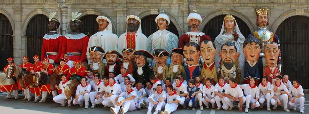 Comparsa gigantes y cabezudos Pamplona