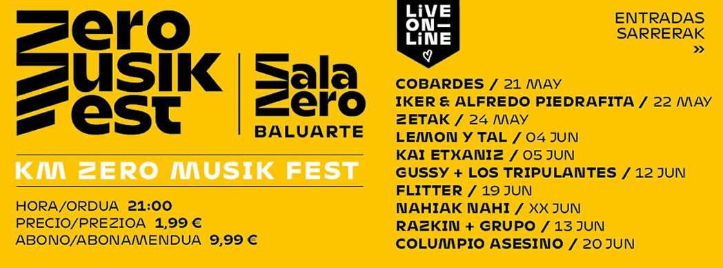 Llega 'Km Zero Musik Fest', un festival en streaming con grupos navarros