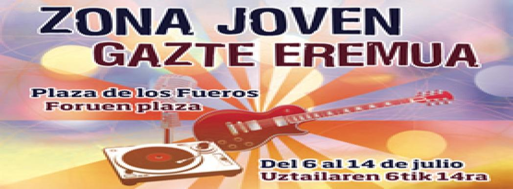 Zona Joven Plaza de los Fueros - San Fermín 2018