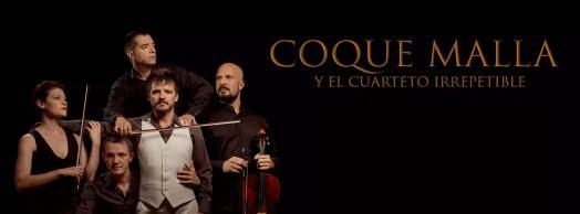 Coque Malla y el Cuarteto Irrepetible en concierto