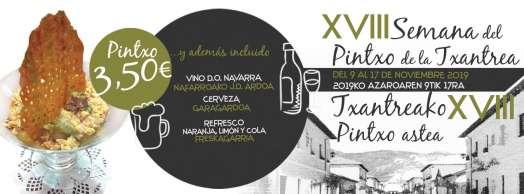 XVIII Semana del Pintxo de la Txantrea 2019