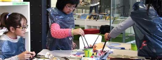 Talleres creativos en la Biblioteca San Pedro