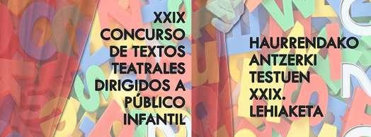 XXIX Concurso de textos teatrales dirigidos a público infantil